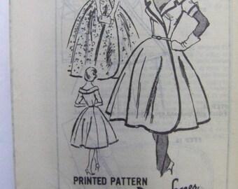 RARE Vintage 50s 60s Prominent Designer A550 DON SOPER Gown & Dress Mail Order pattern sz 12 UNused