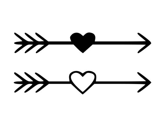 heart arrow svg heart arrow cut files svg studio studio3. Black Bedroom Furniture Sets. Home Design Ideas