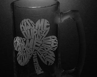 Kiss Me I'm Irish 25 Ounce Beer Mug