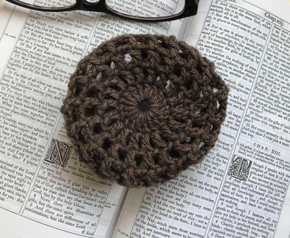 Hand Crochet Wool Hair Bun Cover Net