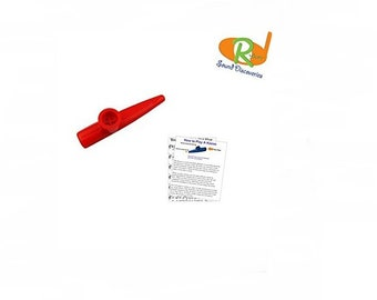 Children's Kazoo w/Learn to Play Educational Music - (A-Tisket, A-Tasket) #RSDR