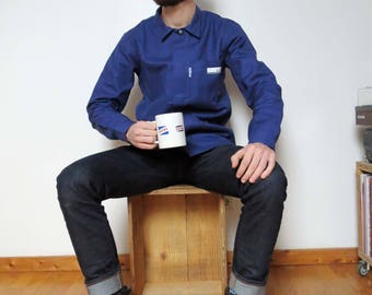 French Workwear Jacket Bleu de Travail SNCF Molinel size M