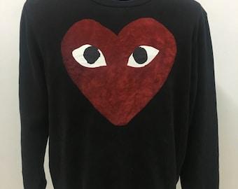 vtg 90s COMME DES GARCONS sweatshirt very nice design