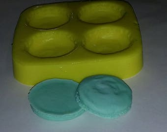 French Macaron COOKIE ONLY  Soap & Candle Mold- 4 cavities