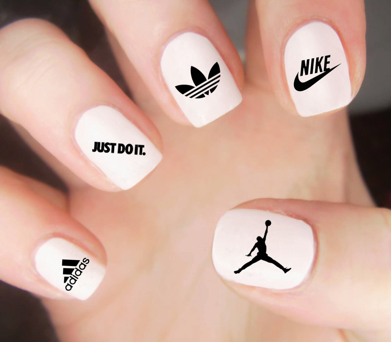 Air Jordan Nail Decal / Nike Nail Decal / Adidas Nails / Athletic ...