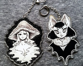 Monster Girl 3 inch Double Sided Acrylic Charms