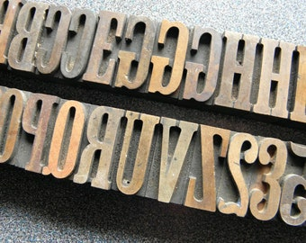"""1-5/8"""" Letterpress Print Blocks  CL"""