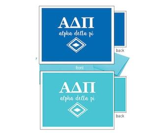 Alpha Delta Pi Notecards - Letters