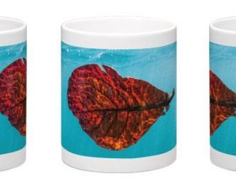 15 oz. Coffee Mug w/ Underwater Leaf on the North Shore, Oahu, Hawaii