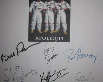 Apollo 13 Signed Film Movie Screenplay Script X9 Autograph Tom Hanks Ron Howard Kevin Bacon Bill Paxton Gary Sinise Ed Harris Jim Lovell