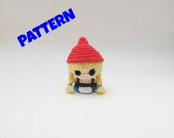 Amgiurumi Gnome Girl Doll Pattern, Crochet Doll Pattern, Amigurumi Patterns, Crochet Patterns, Amigurumi Doll Pattern, Gnome Doll Pattern