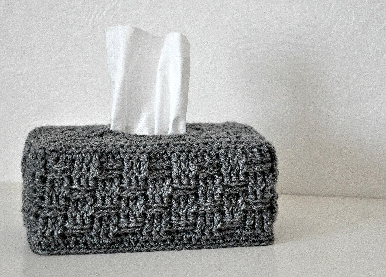 Grau Basket Weave Gewebe Box Cover Kinderzimmer Dekoration zu