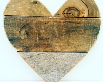 Rustic Wedding Decor Wood Heart Natural Reclaimed Barn Wood Heart Wedding Decor Custom Wooden Heart Wedding Sign Valentines Day Unique Gift
