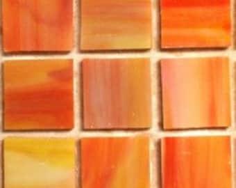 "MG71130 3/4"" Sunrise Stain Glass Tiles- 25 pc//Discount Mosaic Supplies//Mosaic"