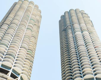 Chicago Marina Towers Print