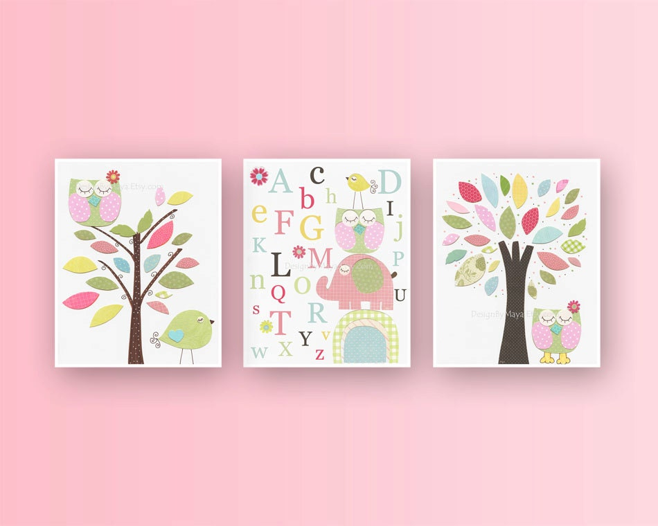 Baby Girl Room Ideas: Nursery wall Art Print For Girls Baby