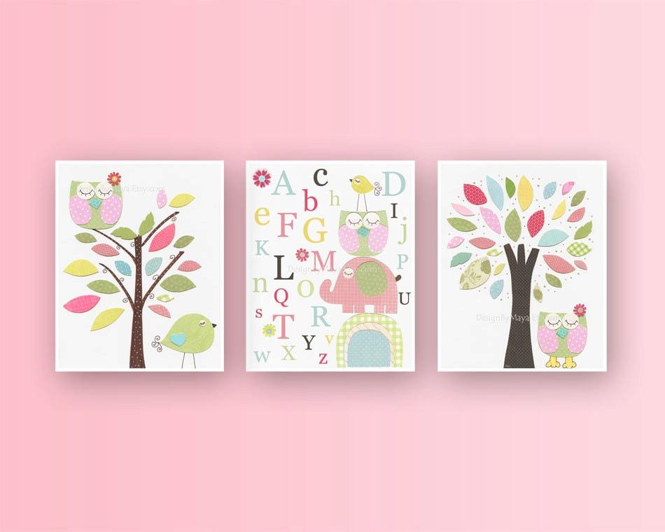 Baby Girl Room Ideas: Nursery wall Art Print For Girls Baby