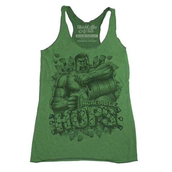 Saint Patrick's Day Hulk Shirt - Womens Hulk Tank Top -  The Incredible Hulk Craft Beer Womens Tank Top