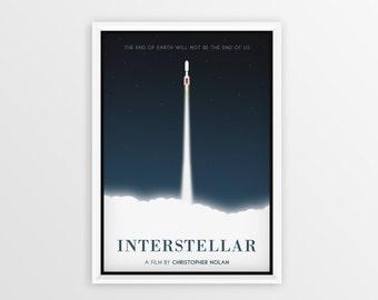 Printable Interstellar Film Poster // Matthew McConaughey // Digital File Download // A2
