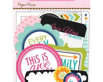 Bella Blvd Snapshots Paper Pieces, Scrapbook Ephemera/Embellishments