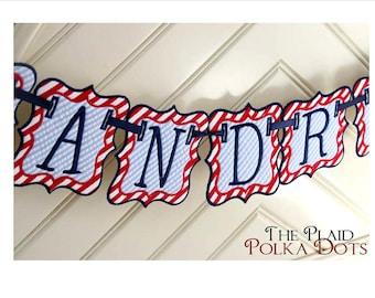 Fabric Birthday Banner - Free Personalization