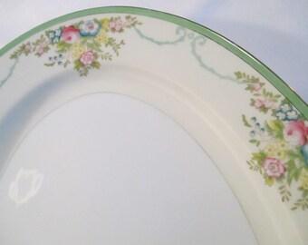 Vintage Meito China Formal Garden Oval 16 inch Serving Platter
