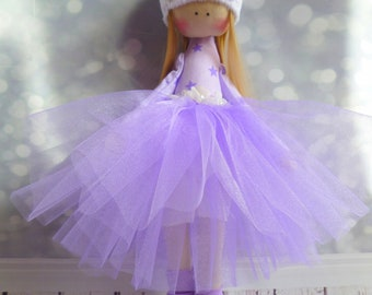 rag doll, ballerina Doll, Textile doll, decorative doll,collectible dolls , doll cotton, Fabric doll, Tilda doll, Home Decoration, Art doll