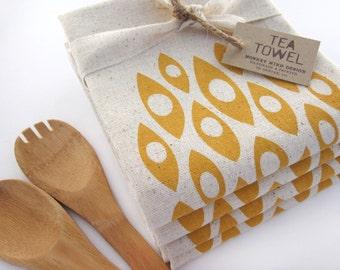 Modern Shapes - Tea Towel - Screen Printed