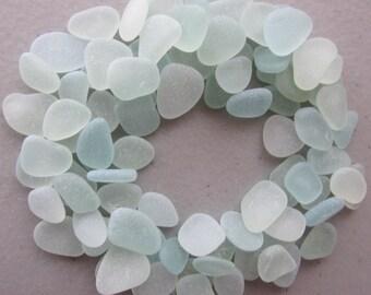 100 Sea Foam Beach Glass Wedding Decor Jewelry Supply Bulk Sea Glass Jewelry Making Sea Treasures Small Sea Gems