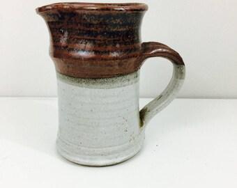 Hand Thrown Stoneware Pottery Pitcher