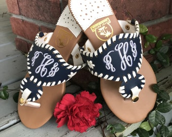 Lizzy Monogram Sandals-Now in 4 colors