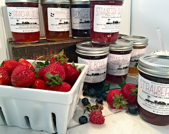 Homemade Jam - Choose from our 60+ Flavors of Jam or Jelly - Housewarming Gift - Hostess Gift - Gourmet Food Gift - Boondock Enterprises