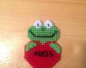 Easter Gift, Frog Valentines Magnet, Critter Magnet,  Gift, Frog Gifts, Gift for Kids, Kids Magnets, Hugs Magnet, Frog Magnet, Easter Gift