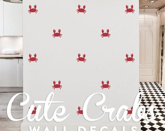 Cute Crabs Wall Decal Pack, Vinyl Wall Sticker Decal Art Pattern WAL-2163