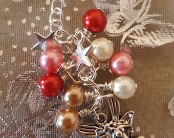 Fairy and star handbag charm