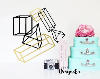Wall Stickers - Geometric Shapes - Set of 6