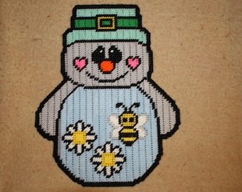 March Snowman wall hanging