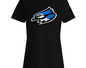 Blue jay mascot logo Ladies T-shirt u623f