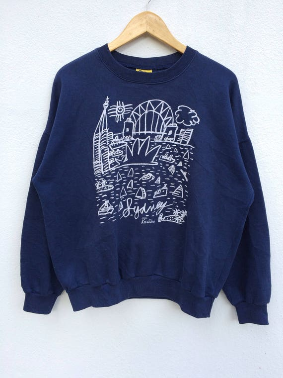 Vintage Ken Done Sweatshirt Pop Art Design Hip Hop Spellout Big Logo BrI3Lxzgh