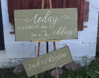Primitive Wedding Day Sign Set