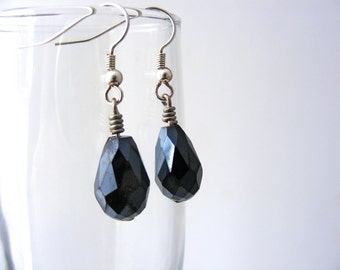 Sparkling Black Midnight Drop Earrings