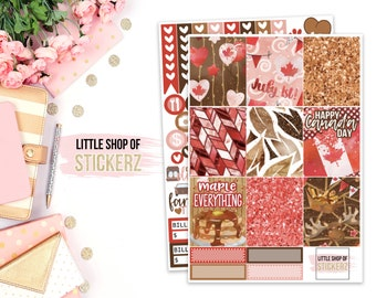 Canada | Planner Stickers, Erin Condren Planner Stickers, Happy Planner Stickers, Planner Sticker Kit, Stickers, Canada, Erin Condren