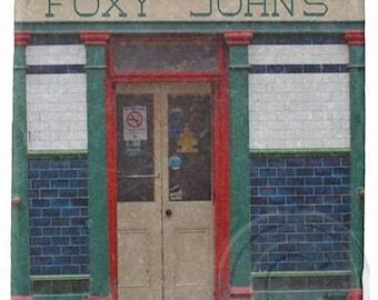 Foxy John's, Dingle, Irish Pub Marble Coaster.