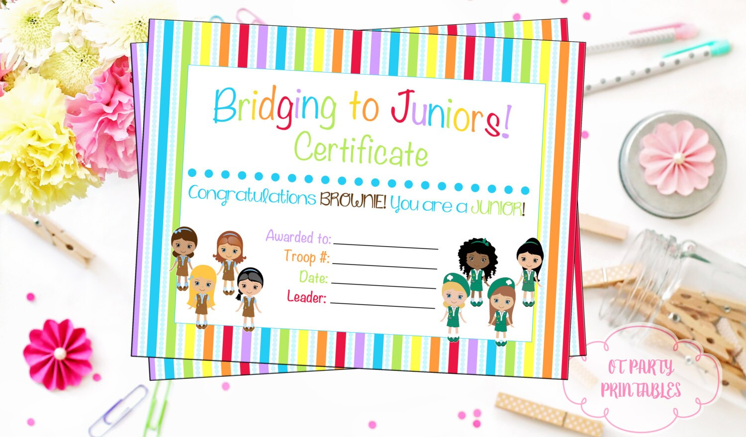 Bridging ceremony certificate printable print at home zoom xflitez Images