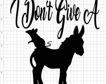 Don't Give A Rats Ass SVG PDF EPS Dxf & Studio 3 Cut Files