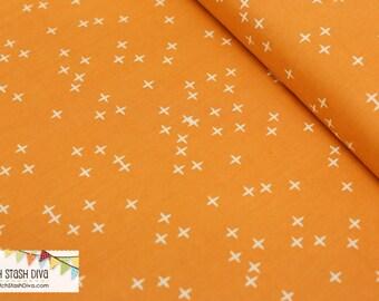 Orange Winks From Birch Organic Fabric's Mod Basics 3 Collection