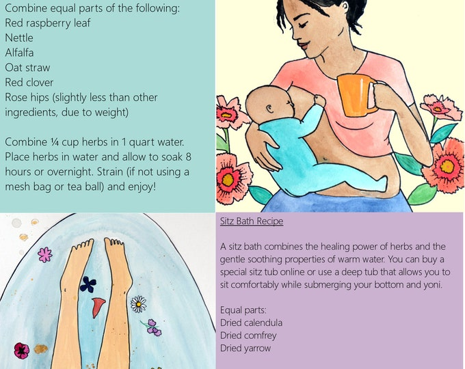 Postpartum Wellness and Healing Slides/ Set 1/ Slides 1-5/ PDFs/ Midwife/ Doula/ Birth Education