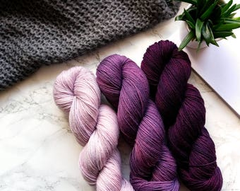Gradient Yarn | Merino Wool Yarn | Hand Dyed Yarn | Sock Yarn | Hand Dyed Sock Yarn | Crochet | Knitting Mom Gift | PREORDER - Bordeaux