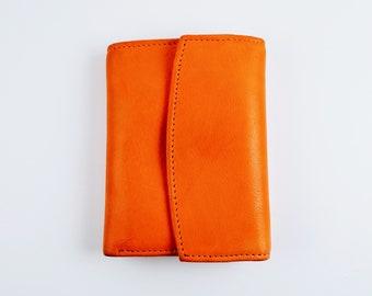 Rolf's Genuine Leather Orange Tri-fold Wallet