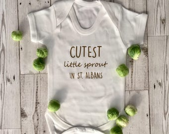 Cutest Little Sprout in St. Albans baby grow short sleeve bodysuit